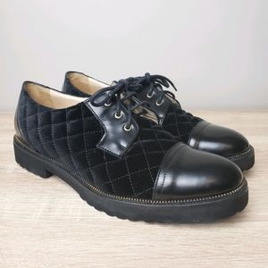 Ron White Quint Calf Quilted Velvet Lace-up Oxford